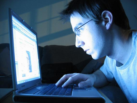 Um nerd paquerando online